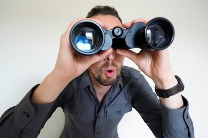 binoculars spying