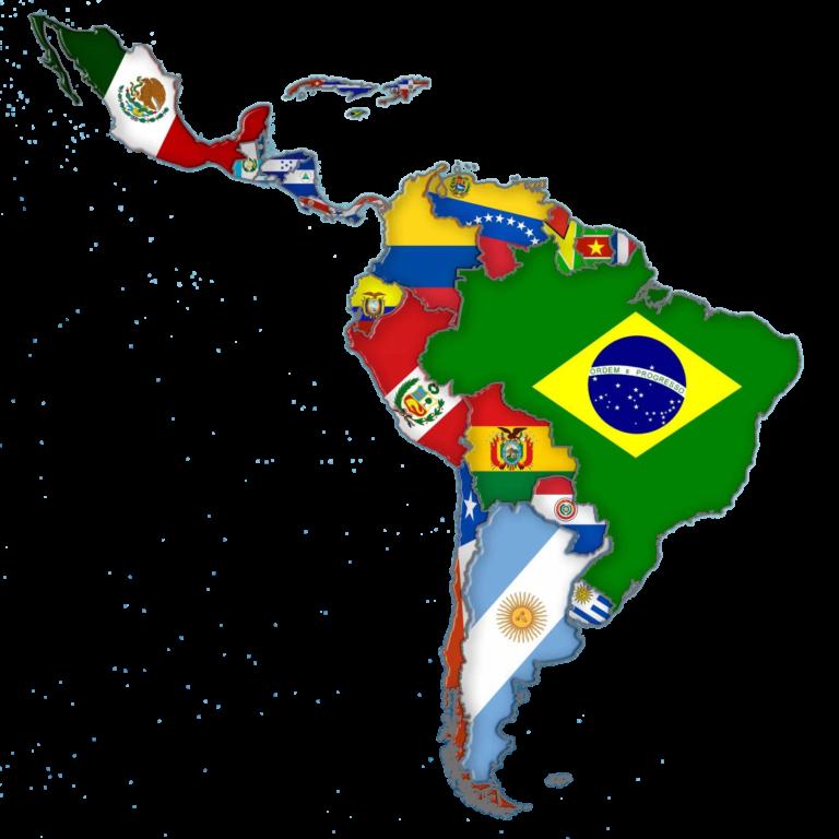 imagem mapa america latina